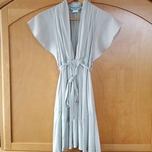 Silk guess marciano m mint flutter sleeve dress